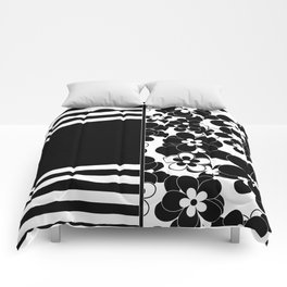 Black , white , mixed , patchwork Comforters