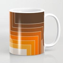 Cornered Golden Coffee Mug