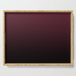 Burgundy Wine Ombre Gradient Serving Tray