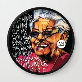 Maya Angelou Wall Clock
