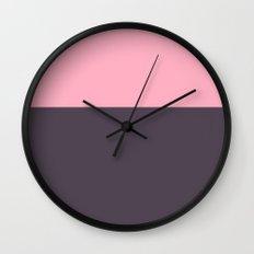 Colorblock Plum Wall Clock