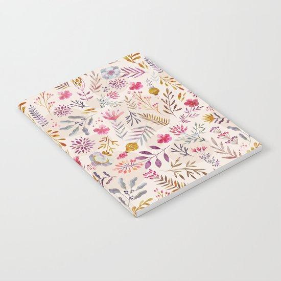 Light floral Notebook