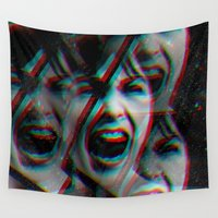 psycho Wall Tapestries featuring PSYCHO by Inception of The Matrix