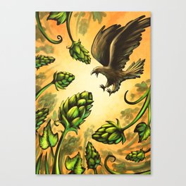 Screaming Eagle and Raging Hops (Warm) Canvas Print