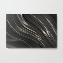Black Steel Metal Print