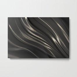 Black Steel Metal Print