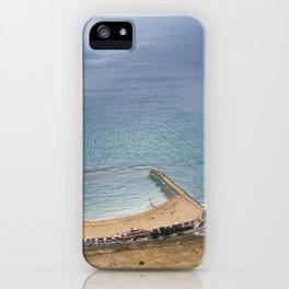 Beautiful Gibraltar rock beach view iPhone Case