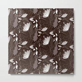 Trendy Floral Pattern Metal Print