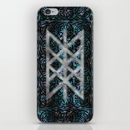 Web of Wyrd The Matrix of Fate - Silver & Gemstone iPhone Skin