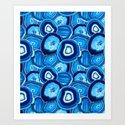 Geode Slices No.1 in Aquamarine + Sapphire Blue by elliottdesignfactory