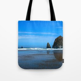 Haystack Rock Cannon Beach Tote Bag