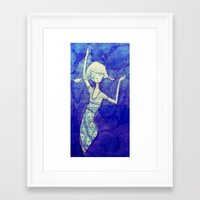 notebook Framed Art Prints featuring notebook page by mloyan