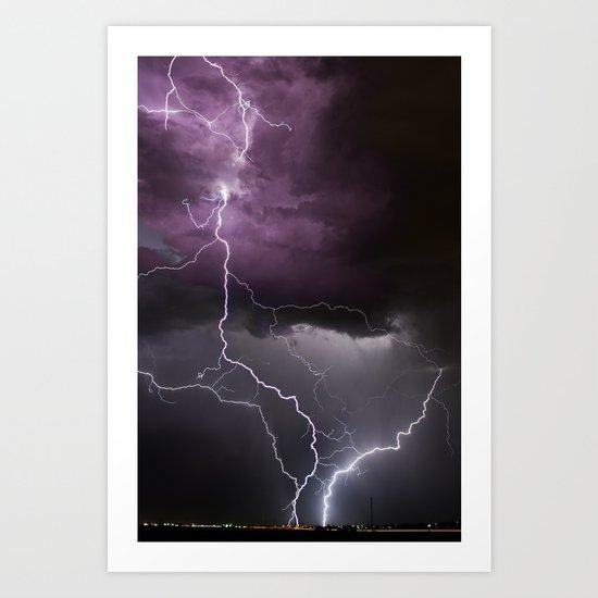 thunderlight Art Print