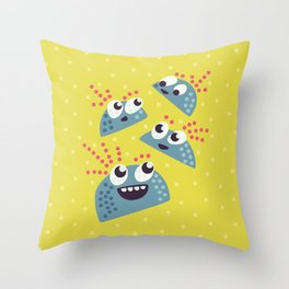 Happy Candy Friends Throw Pillow