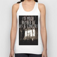 concert Tank Tops featuring Concert life by Parker Hoge