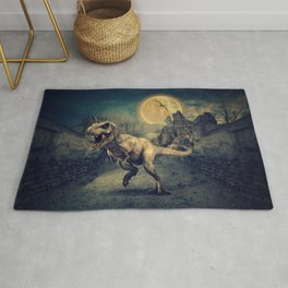 Dinosaurs in the ruins by GEN Z Rug