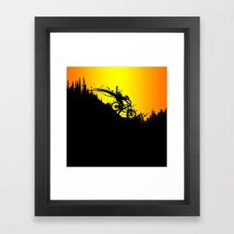 MTB Drop colors Framed Art Print