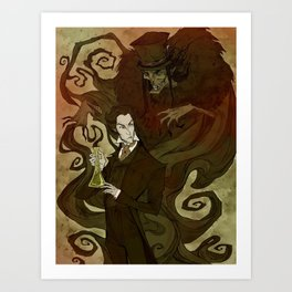 Dr. Jekyll and Mr. Hyde Art Print