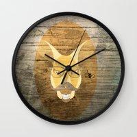 kangaroo Wall Clocks featuring Kangaroo by Janice
