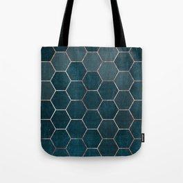 honeycomb pattern // rosegold & teal Tote Bag