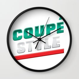 Coupe Style Wall Clock