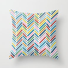 Herringbone Colour Zoom Throw Pillow