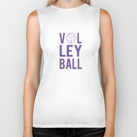 volleyball Biker Tanks featuring Volleyball (lavendar) by raineon