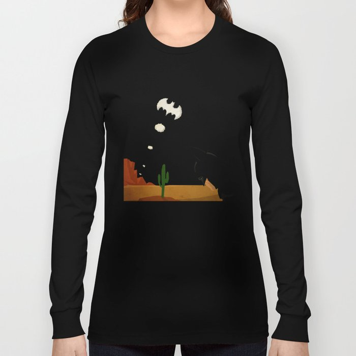 superheroes in the wild west Long Sleeve T-shirt
