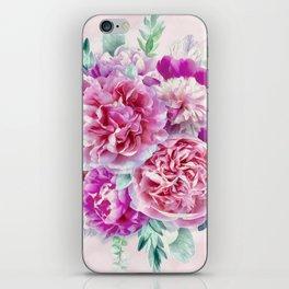 Beautiful soft pink peonies iPhone Skin