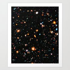 Hubble Ultra Deep Field Art Print