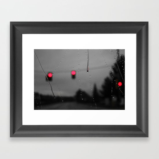 Red Lights Ahead Framed Art Print