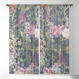 Midnight Forest VII Sheer Curtain