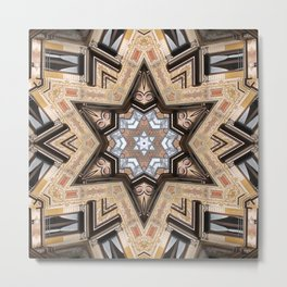 Architectural Star of David Metal Print
