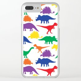 Dinosaurs - White Clear iPhone Case