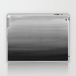 Touching Black Gray White Watercolor Abstract #1 #painting #decor #art #society6 Laptop & iPad Skin