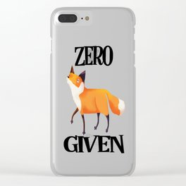 0 Fox Given Clear iPhone Case