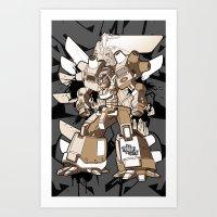 gundam Art Prints featuring Gundam Style by RiskeOne opc