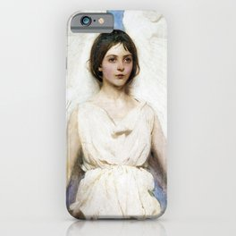 Beautiful Angel With White Wings iPhone Case