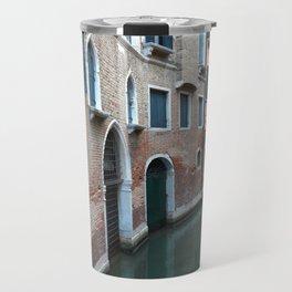 Venetian streets -canals .Carlo Galdoni Museum Travel Mug