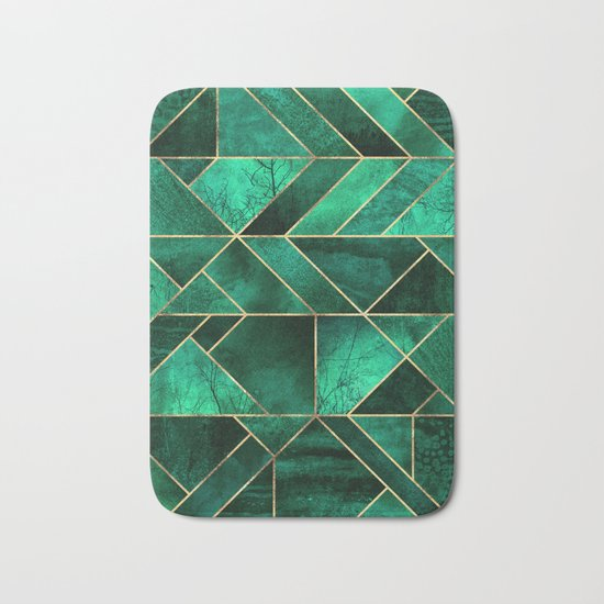 Abstract Nature - Emerald Green Bath Mat