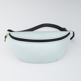 Duck Egg Pale Aqua Blue and White Vertical Thin Pinstripe Pattern Fanny Pack