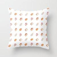 haikyuu Throw Pillows featuring Haikyuu Favorite Desserts by Anyeka