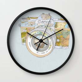 TRAVEL CAN0N Wall Clock
