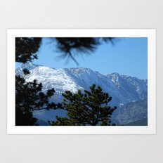 Snow Capped Mountain Art Print