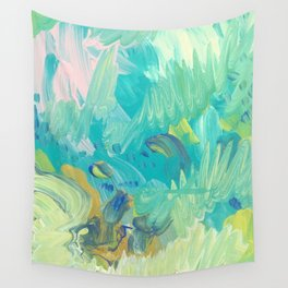 Green Swells Wall Tapestry