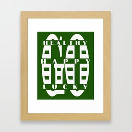 Healthy Go Happy Go Lucky Framed Art Print