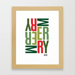 Sideways Merry Framed Art Print