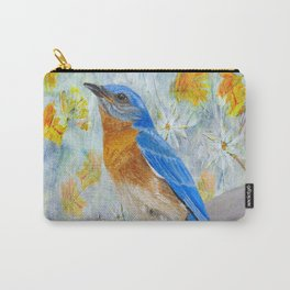 Springtime Eastern Bluebird Carry-All Pouch