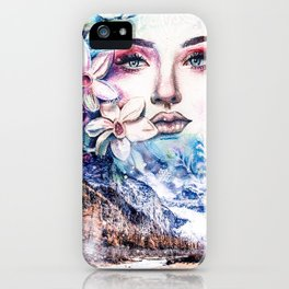Face of the winter iPhone Case