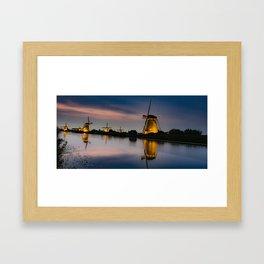Dutch Wind Mills Framed Art Print